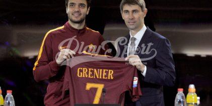 """Roma, Grenier si presenta:""""La Roma può superare la Juve"""" (FOTO)"""