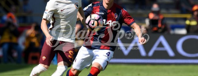 Bologna-Roma 1-1: Dzeko risponde a Pulgar. Ansia Nainggolan, esce per infortunio