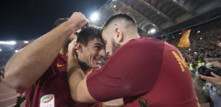 Roma-Lazio 2-1, Perotti-Nainggolan firmano la vittoria nel derby