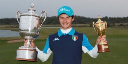 Golf, Andrea Romano trionfa agli Internazionali d'Italia