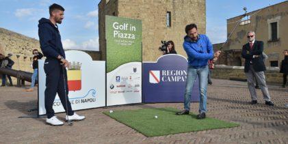 """Golf, Road to Rome 2022: A Napoli De Magistris lancia """"Golf in Piazza"""""""