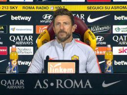 """Roma-Samp, Di Francesco:""""Migliorare in casa. Domani gioca Schick"""""""
